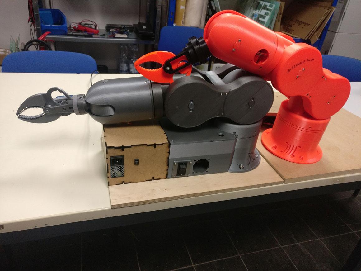 Two Thor robotic arm lying